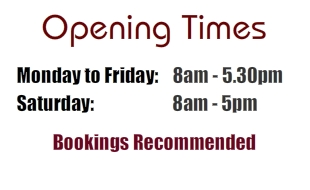 Opening Times at Colemans
